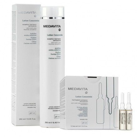 Medavita Kit Lotion Concentree 13 x 6 ml Vials + Shampoo