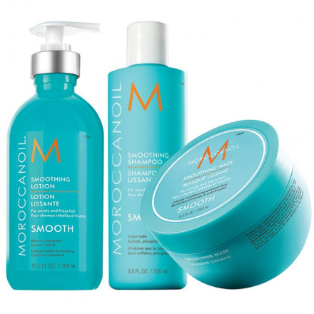 Moroccanoil Kit Smoothing Shampoo + Mask + Lotion