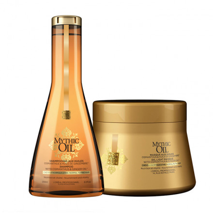 L'Oreal Kit Mythic Oil Shampoo + Masque For Normal/Fine Hair