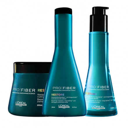 L'Oreal Kit Pro Fiber Restore Shampoo + Masque + Treatment