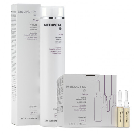 Medavita Kit Velour 12 x 6 ml Vials + Shampoo