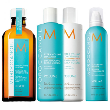 Moroccanoil Kit Extra Volume Shampoo + Conditioner + Styling + Treatment Light