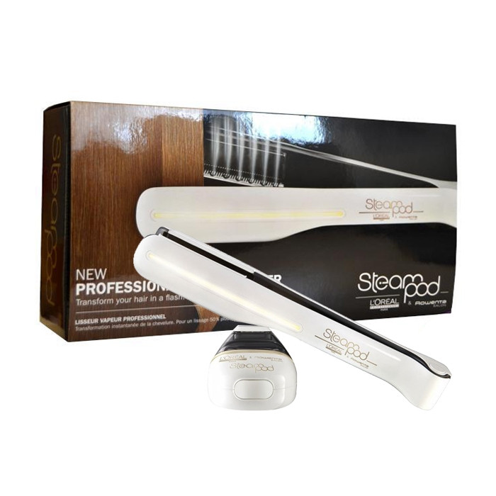 hair straightener l 39 oreal steampod professional steam styler white trilab. Black Bedroom Furniture Sets. Home Design Ideas