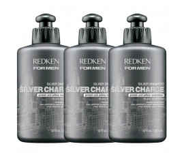 Redken Kit For Men Silvercharge Shampoo 300 ml x 3