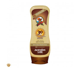 Australian Gold SPF30 Lotion Sunscreen BRONZER 237 ml