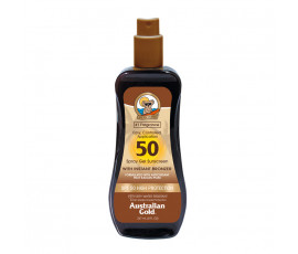 Australian Gold SPF50 Spray Gel Sunscreen BRONZER 237 ml