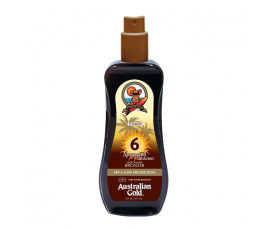 Australian Gold SPF6 Spray Gel Sunscreen BRONZER 237 ml