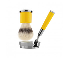 Acqua di Parma Barbiere Deluxe Stand Shaving Brush and Shaving Razor with Gillette Mach3 Razor Blades