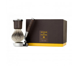 Acqua di Parma Collezione Barbiere Deluxe Stand Shaving Brush and Shaving Razor with Gillette Mach3 Razor Blades