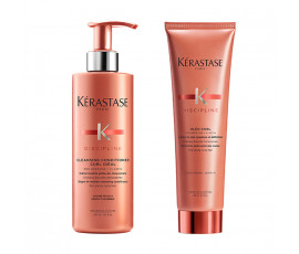 Kerastase Kit Discipline Curl Ideal Cleansing Conditioner + Styling