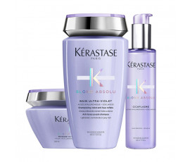 Kerastase Kit Blond Absolu Bain Ultra-Violet + Masque + Treatment