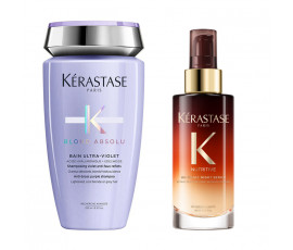 Kerastase Kit Blond Absolu Bain Ultra-Violet + Night Serum