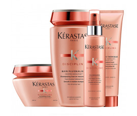 Kerastase Kit Discipline Fluidealiste Bain Sans Sulfates + Masque + Spray and Cream Treatments