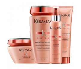 Kerastase Kit Discipline Fluidealiste Bain Gentle + Masque + Spray and Cream Treatments