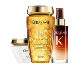 Kerastase Kit Elixir Ultime Bain + Masque + Night Serum