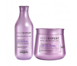 L'Oreal Kit Serie Expert Liss Unlimited Prokeratin Shampoo + Masque