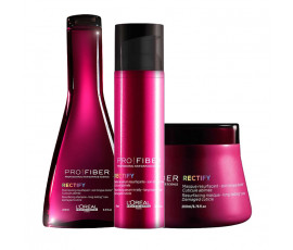 L'Oreal Kit Pro Fiber Rectify Shampoo + Masque + Treatment