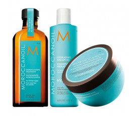 Moroccanoil Kit Hydrating Shampoo + Mask + Treatment