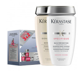 Kerastase Kit Specifique 30 x 6 ml Vials + Bain Prevention + Bain Densite