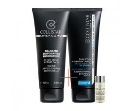 Collistar Kit Linea Uomo After-Shave Repair Balm + Anti-Hair Loss Redensifying Shampoo and Concentrate