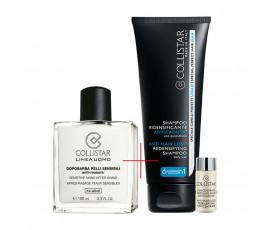 Collistar Kit Linea Uomo Sensitive Skin After-Shave + Anti-Hair Loss Redensifying Shampoo and Concentrate