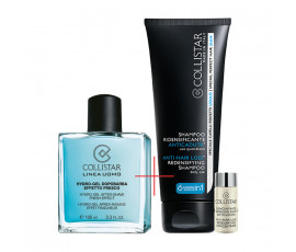 Collistar Kit Linea Uomo Hydro-Gel After-Shave Fresh Effect + Anti-Hair Loss Redensifying Shampoo and Concentrate