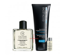 Collistar Kit Linea Uomo After-Shave Toning Lotion + Anti-Hair Loss Redensifying Shampoo and Concentrate