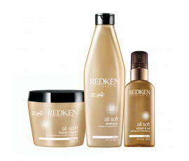 Redken Kit All Soft Shampoo + Mask + Oil
