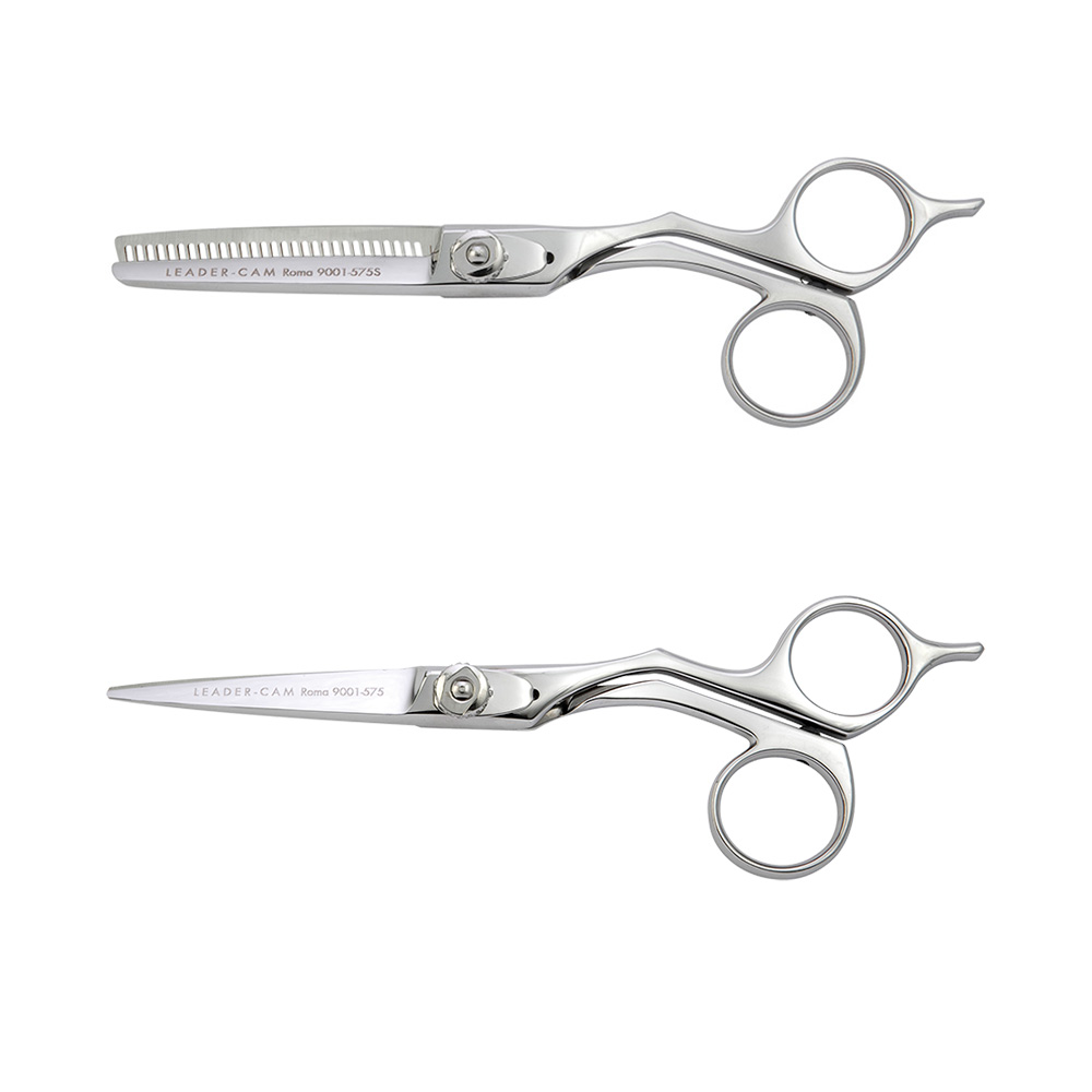Kit Scissors for Hair Cutting and Slicing Leader Cam Rome Series